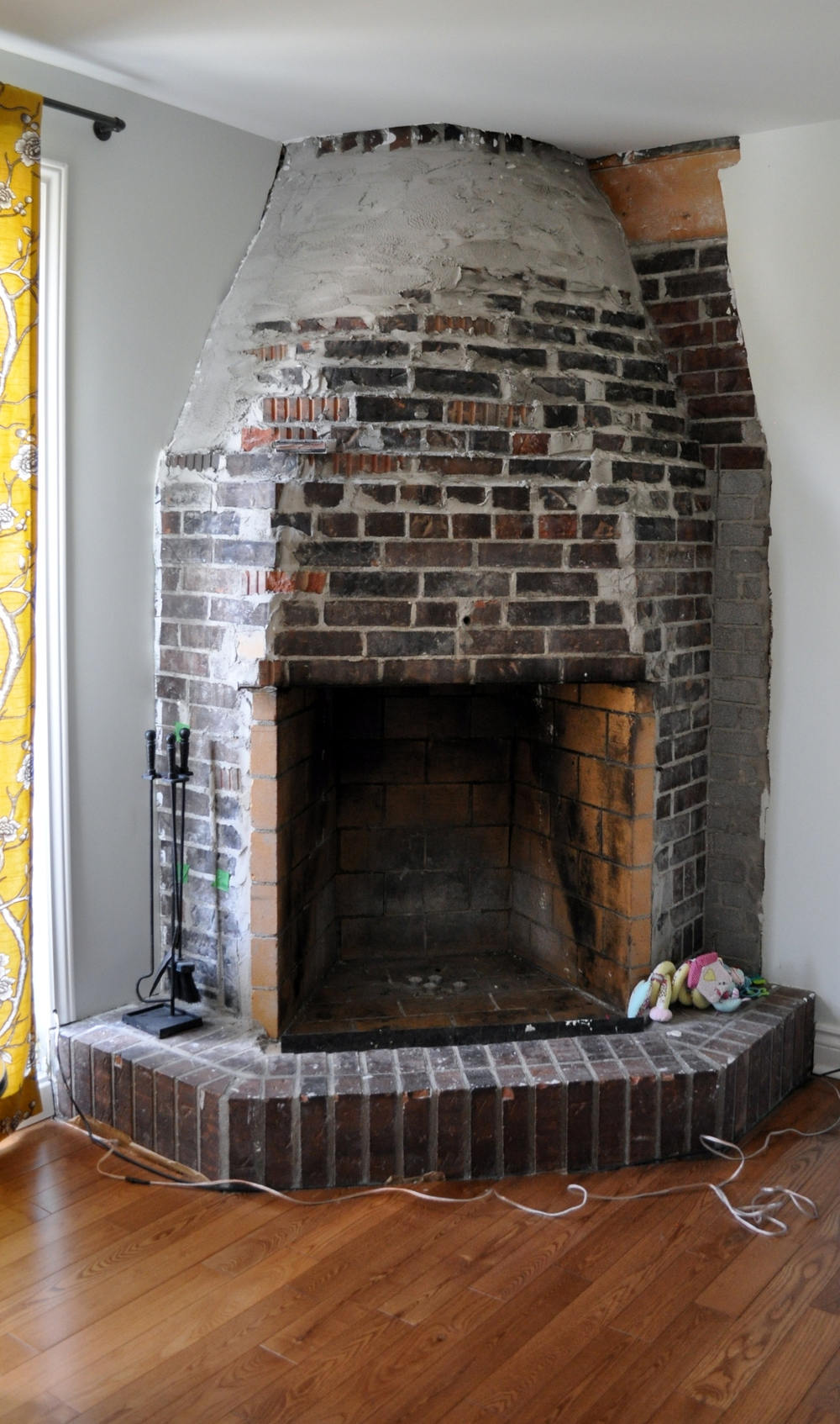 Brick Fireplace Removal Part - 29: Fireplace, Stones Removed