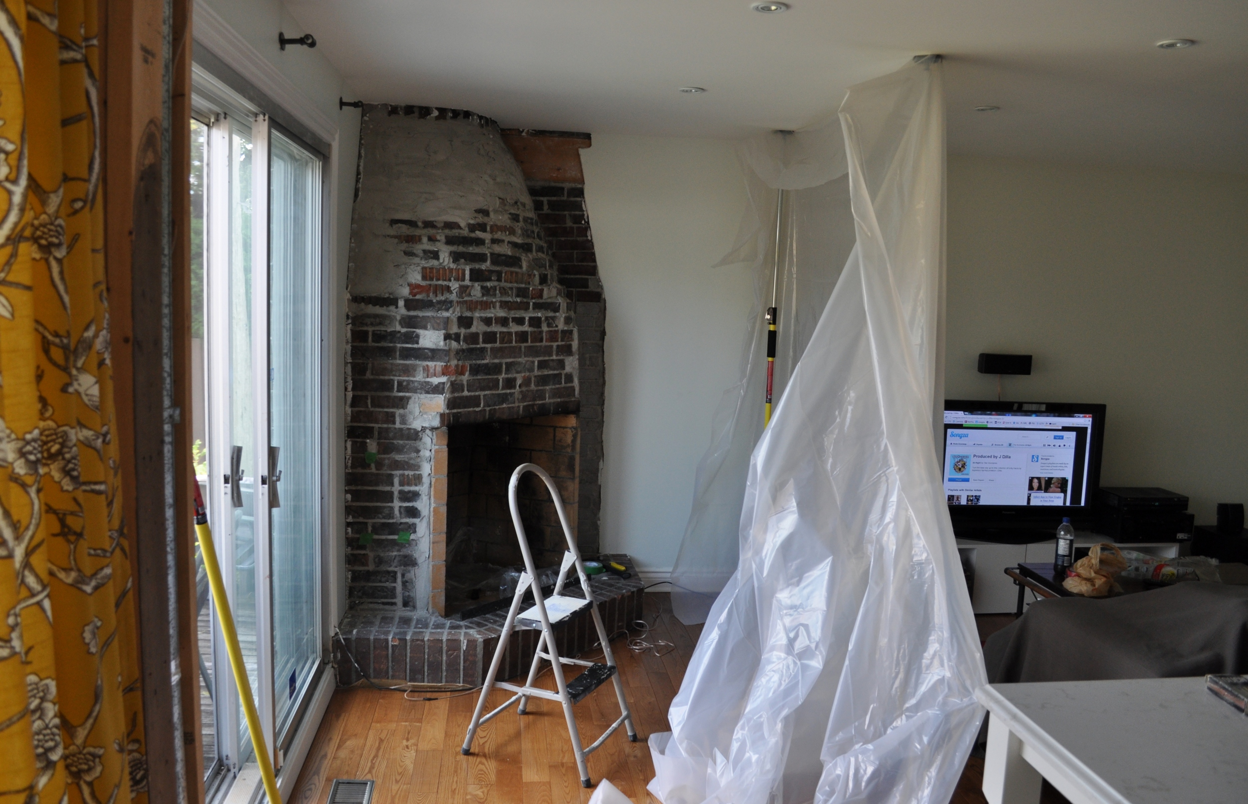 Section Off Fireplace