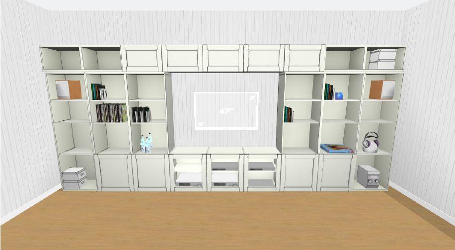 Ikea Besta Storage Plan