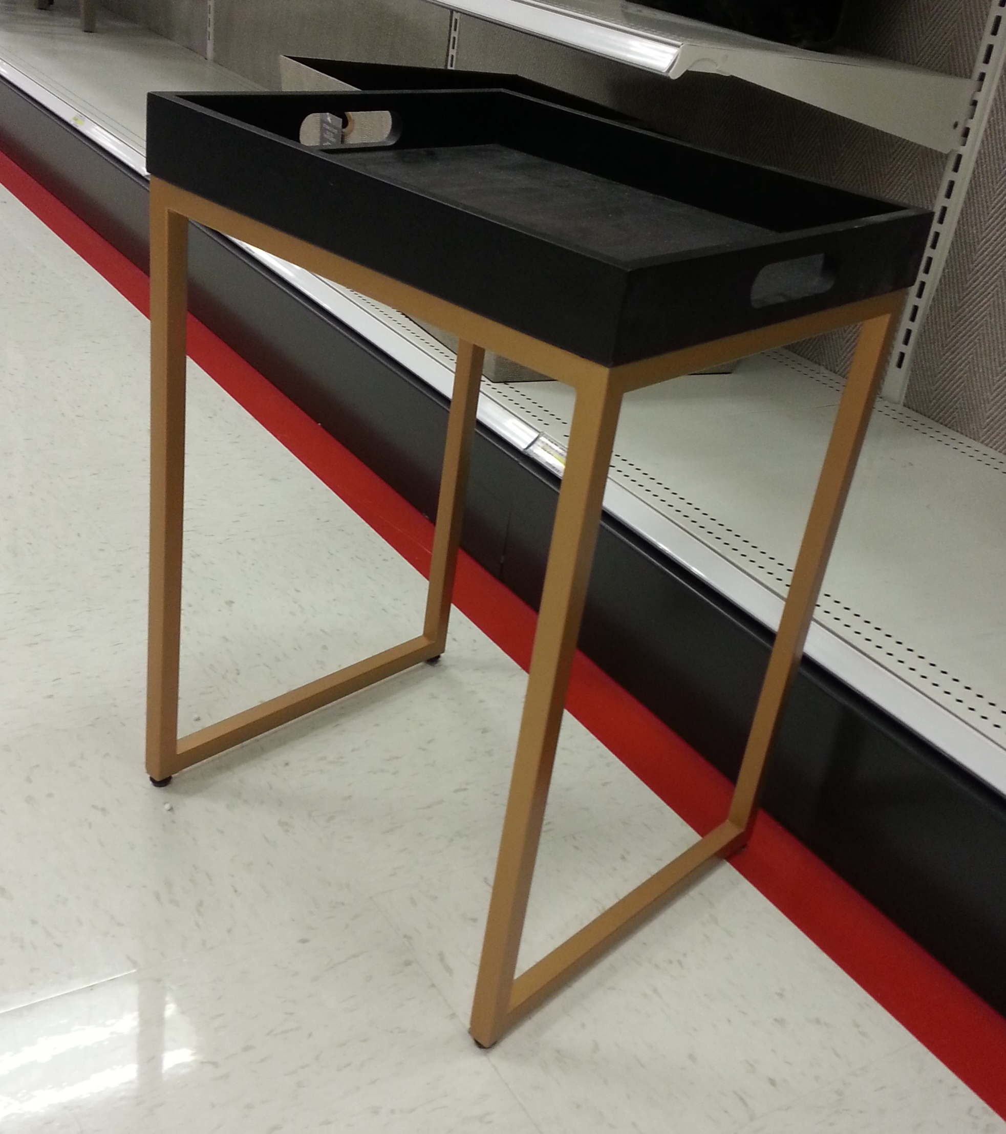 black gold side table TARGET
