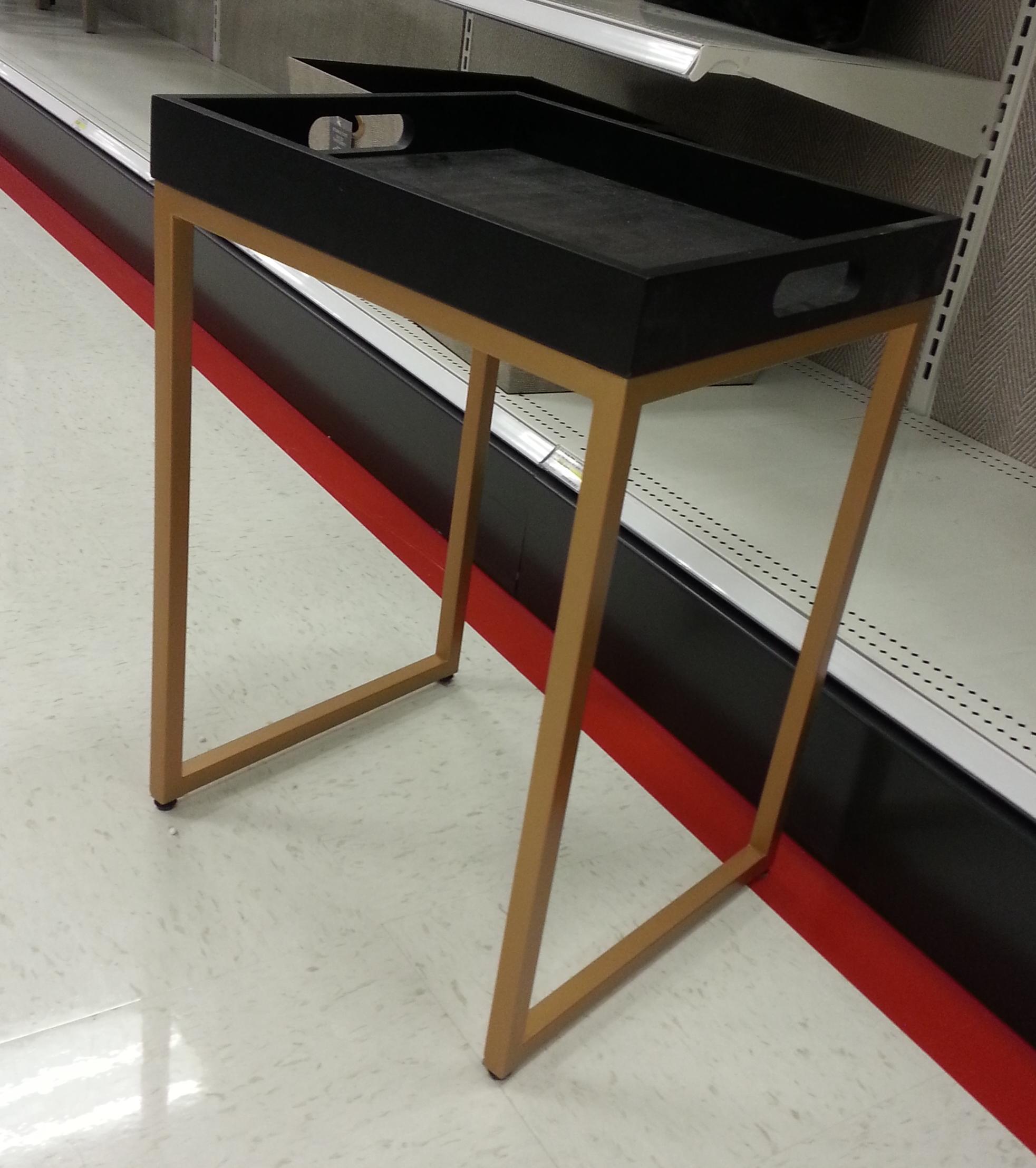 black gold side table TARGET