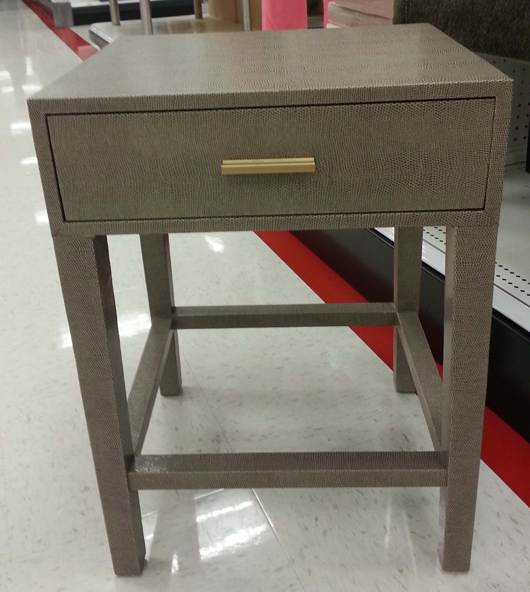 faux croc side table TARGET