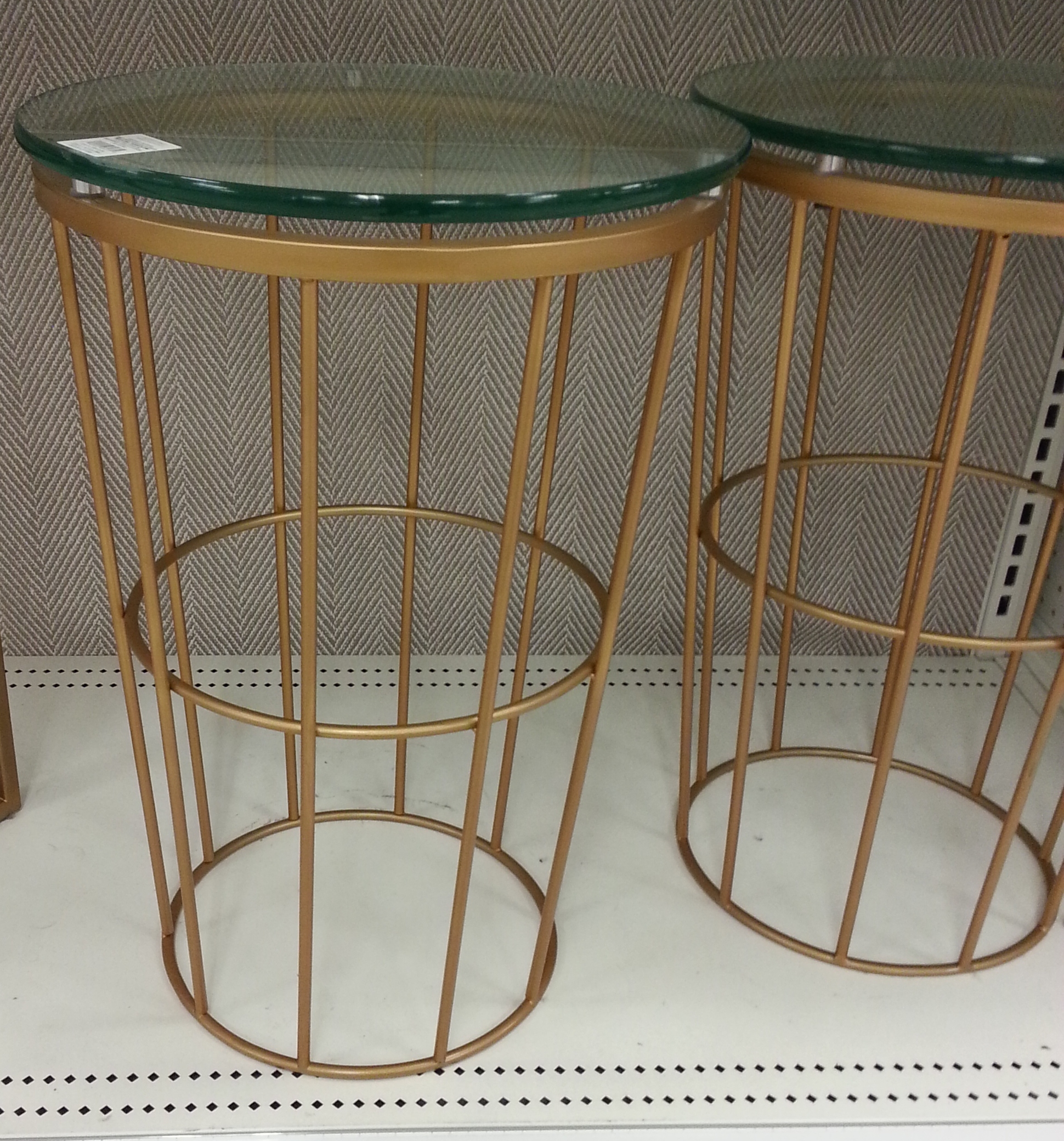 round brass side table TARGET