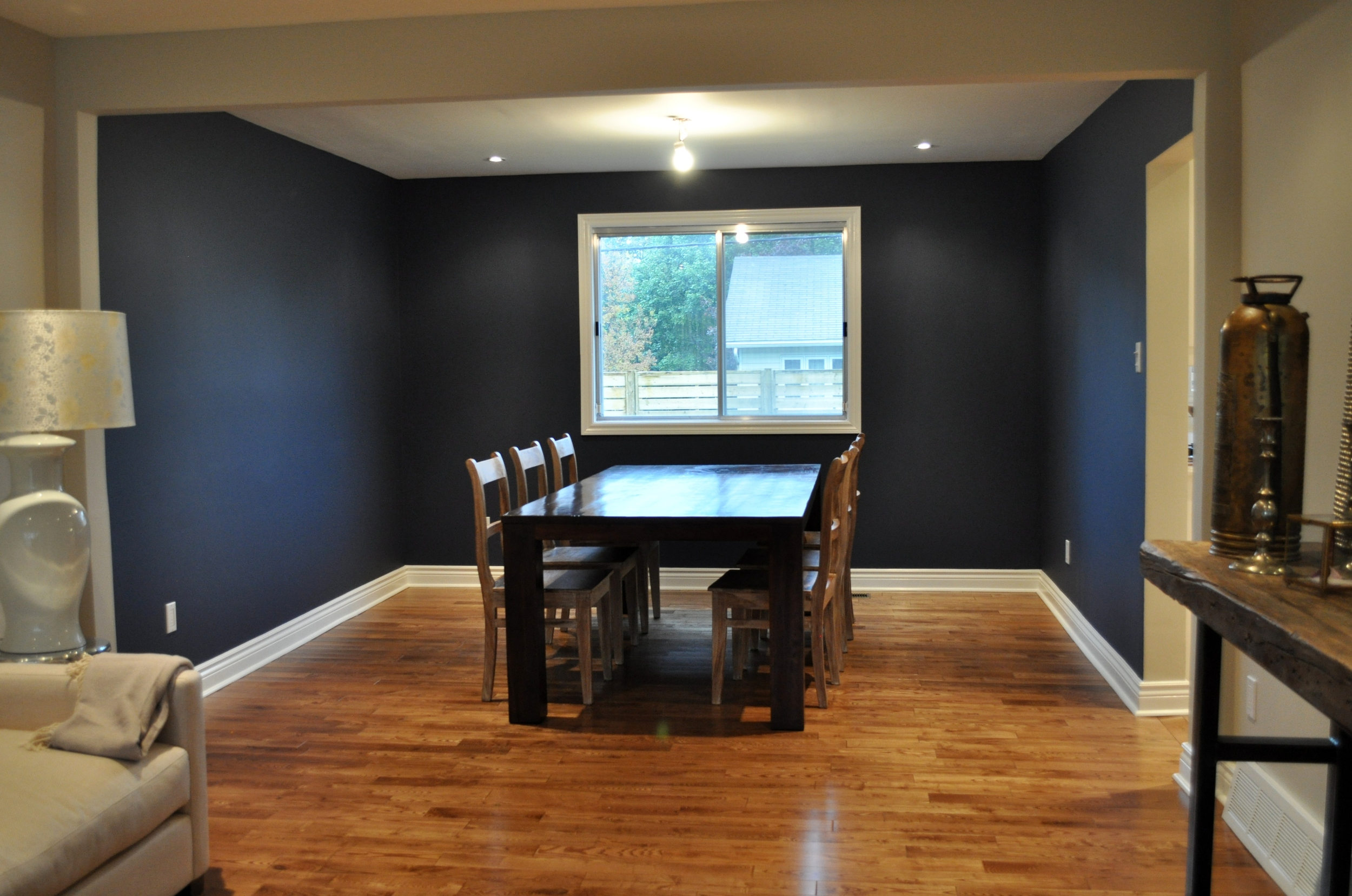 Dining Room, Baseboards completed