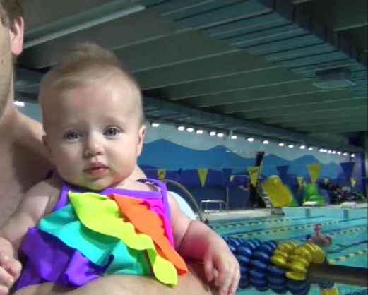 Sienna's First Swimming Lesson