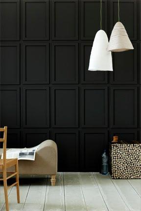 Black Wall with Trim, via Cococozy