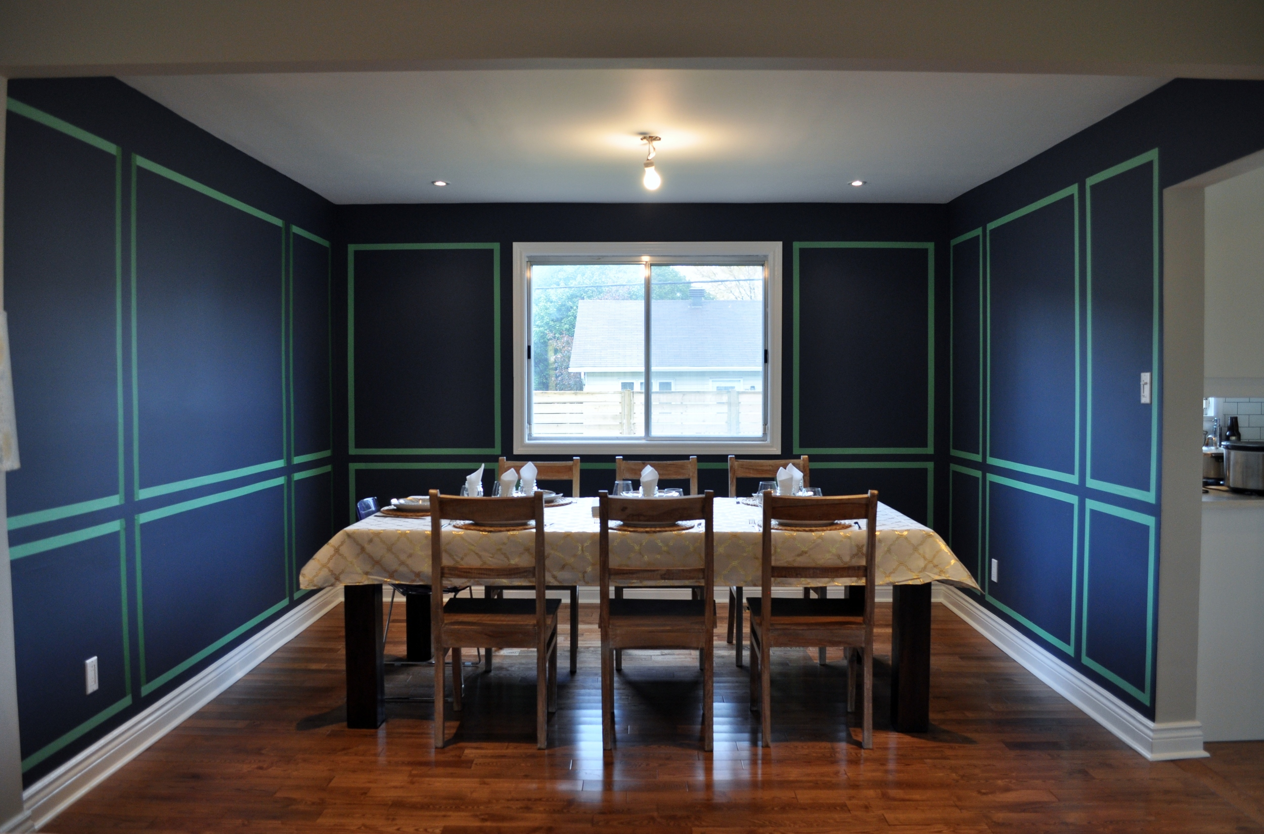 Dining Room Paneling Mock-up 1