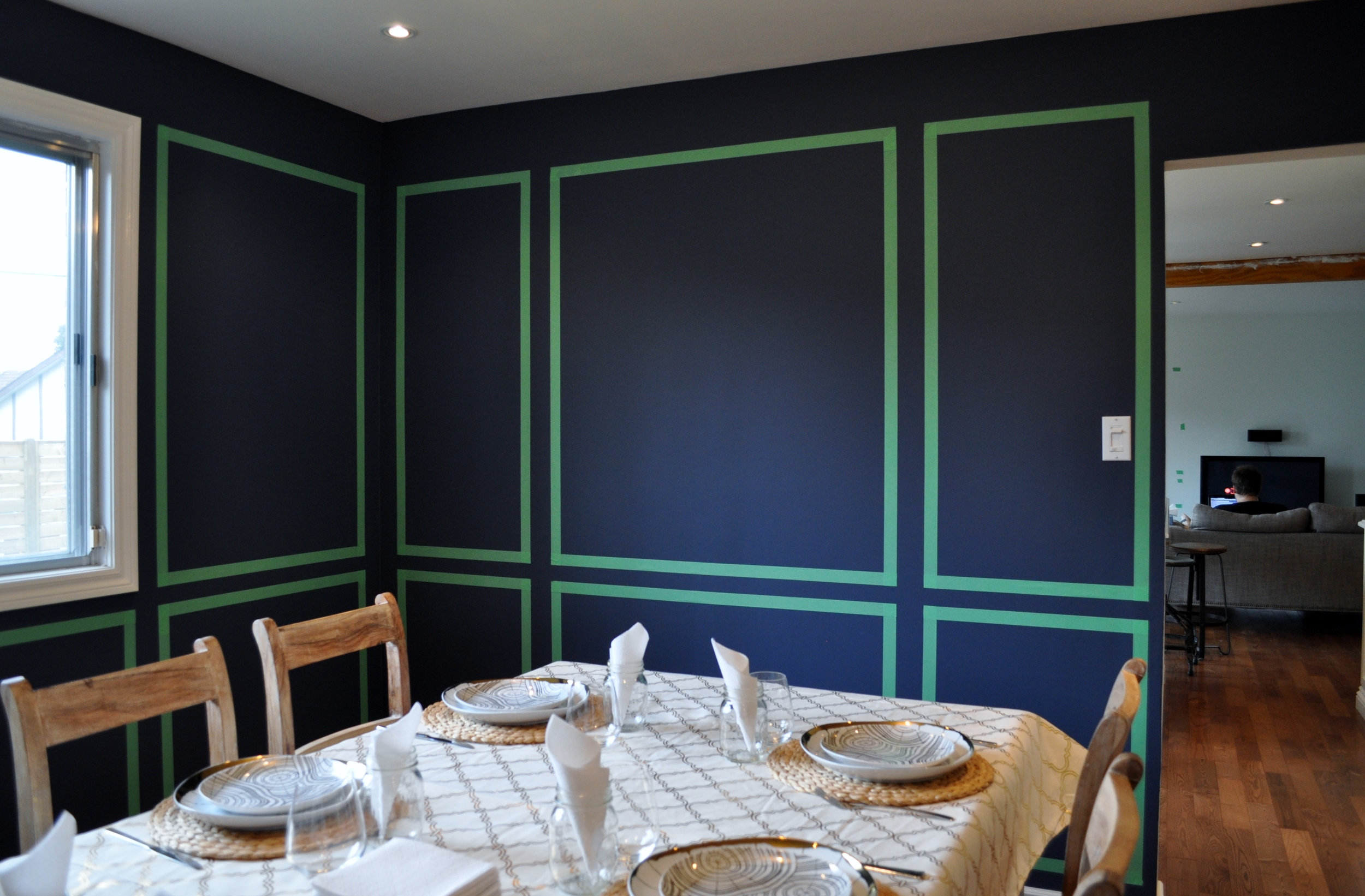 Dining Room Paneling Mock-up 2
