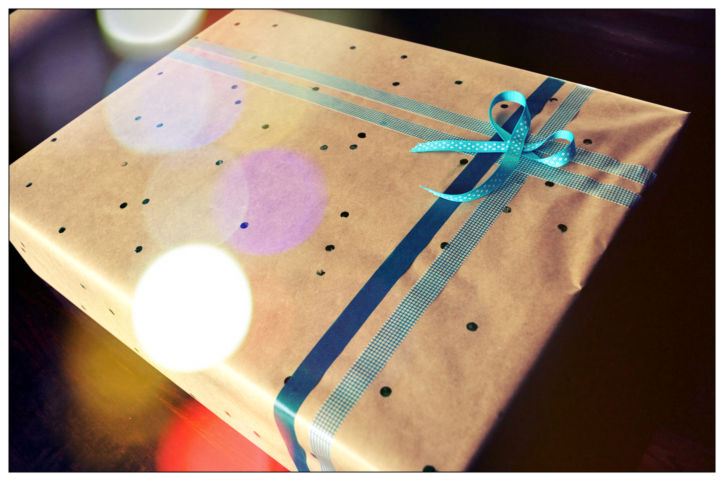 Gift wrap, stamped design