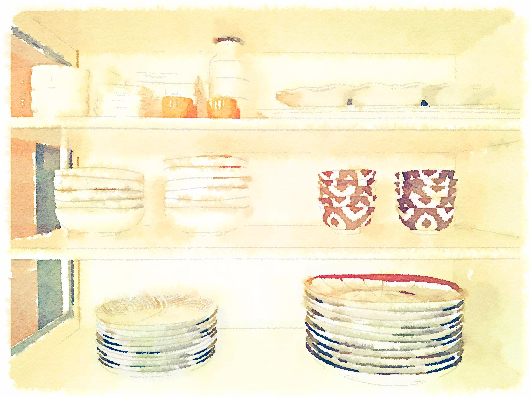 Glass Cabinet Waterlogue