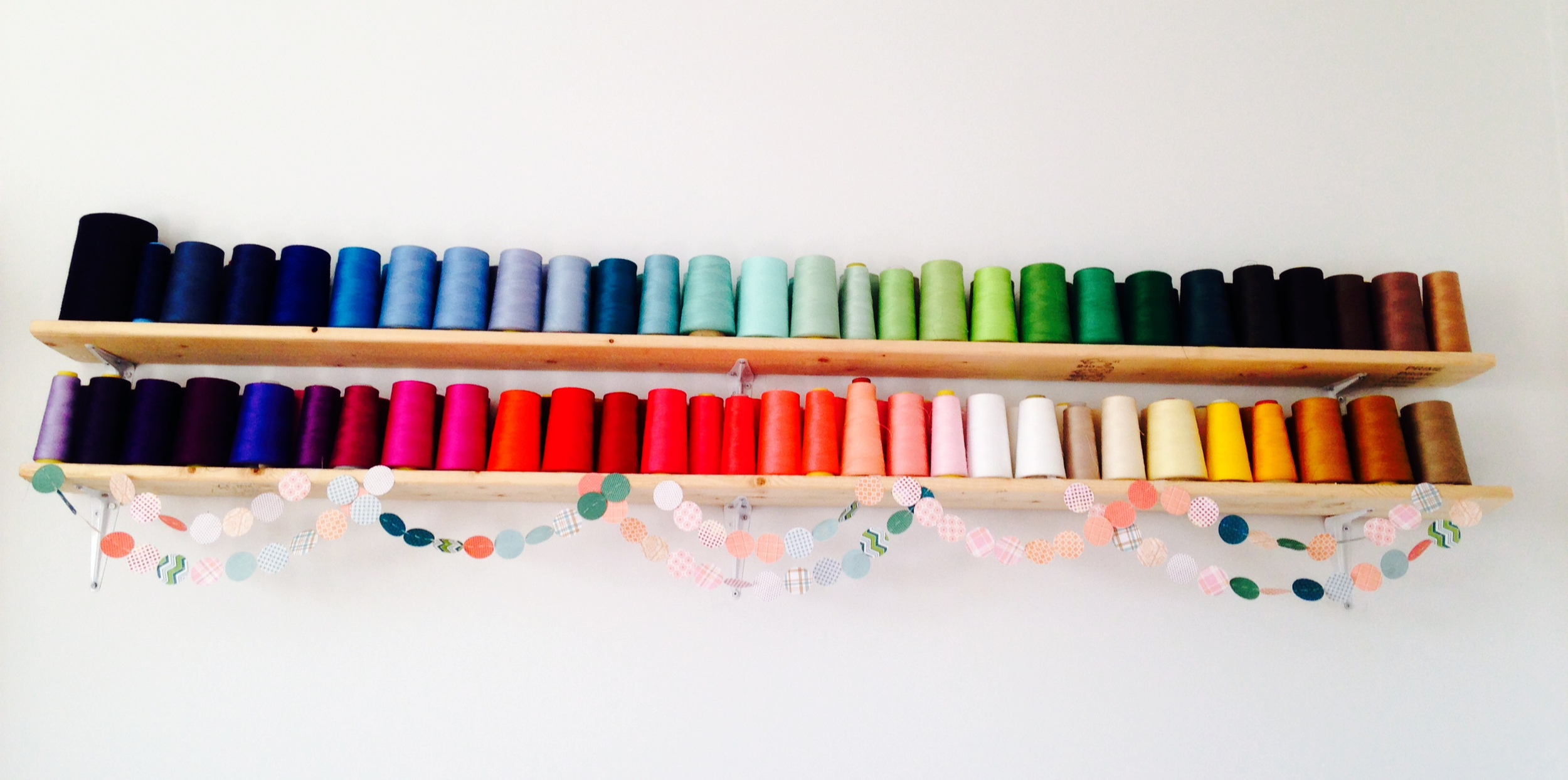 Colorful Spools with Garland