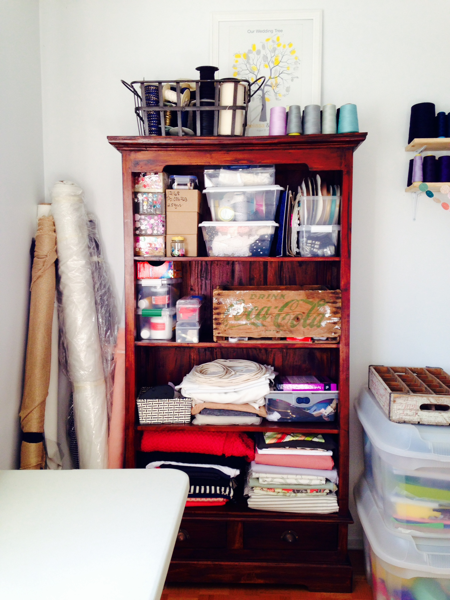 Temp Craft Room Storage