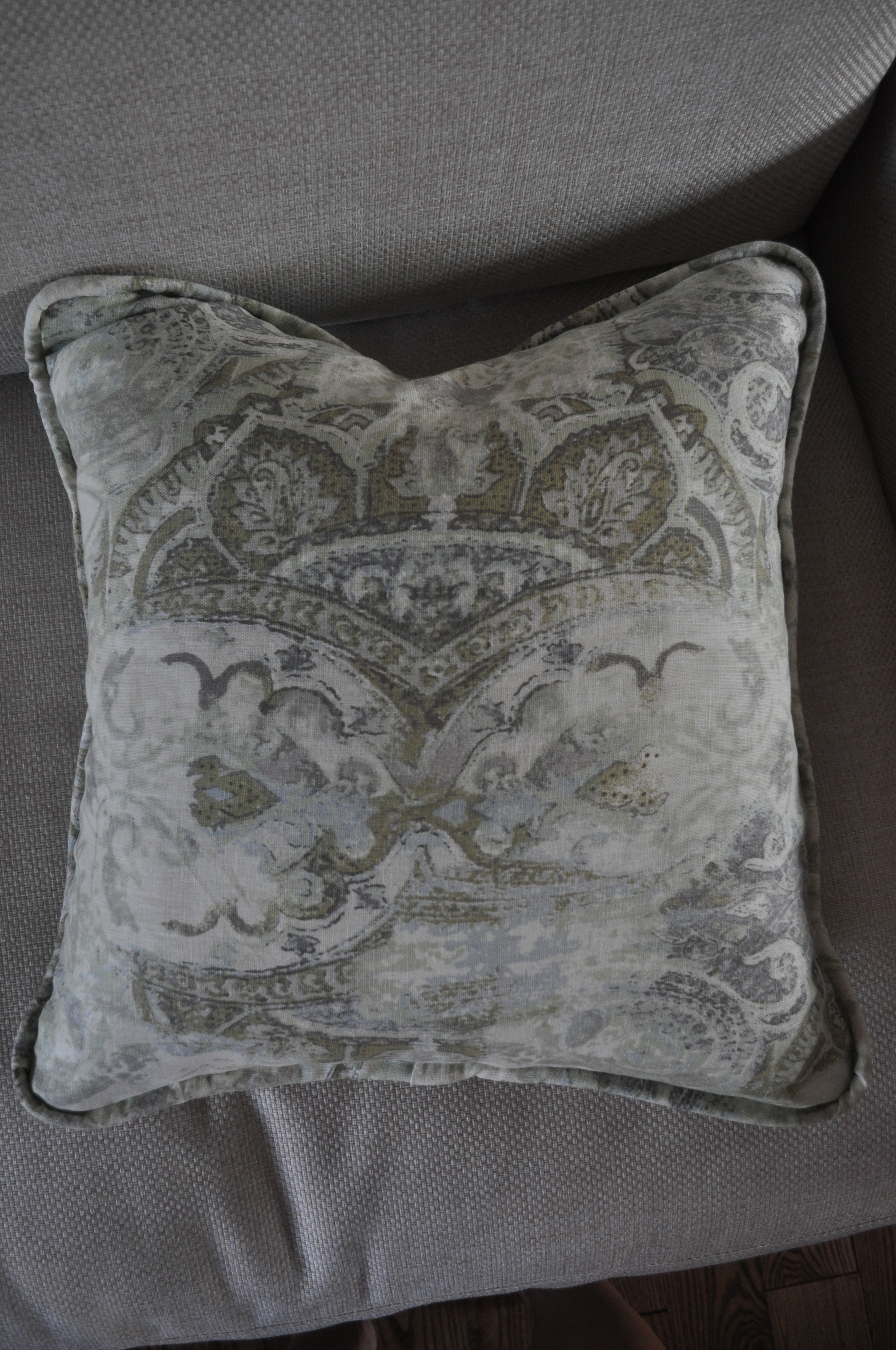 Pillow, fabric detail