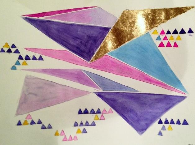 Triangles_Watercolor