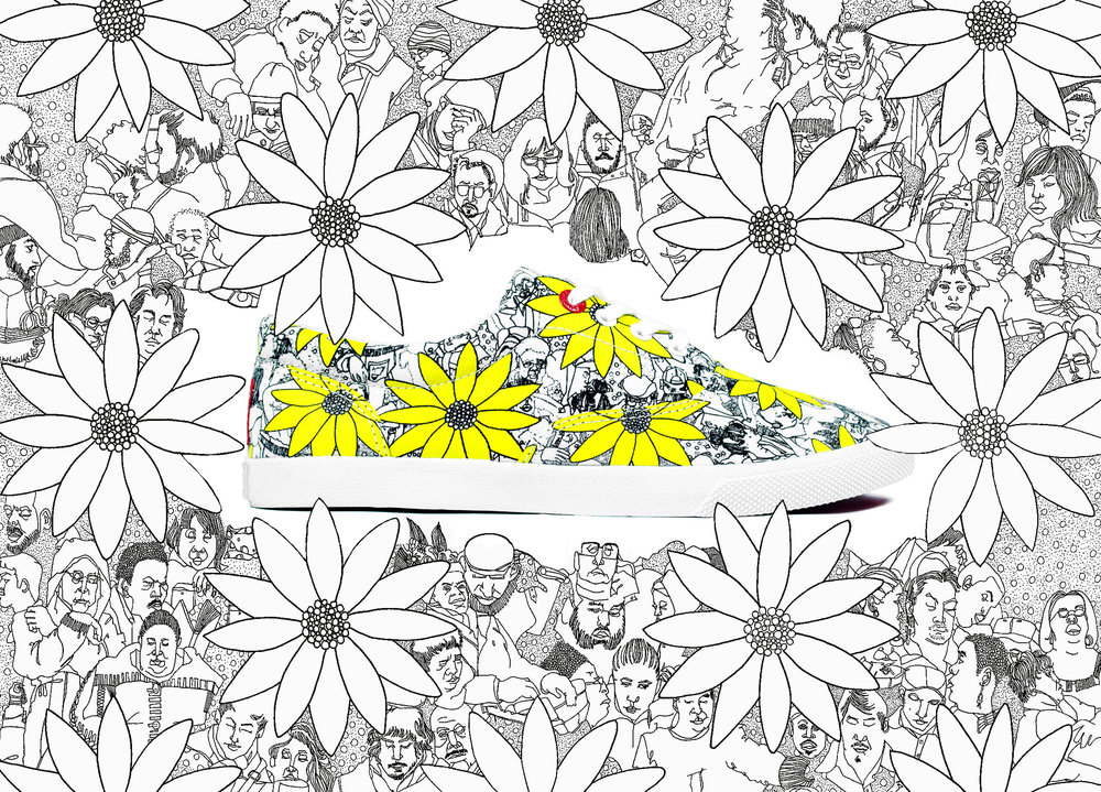 Bucketfeet Shoe Collaboration (2015) I was so excited to have the opportunity to have my design on a Bucketfeet shoe. The shoes were released May 2015. Click the image to learn more information about my design and my thought process behind it.