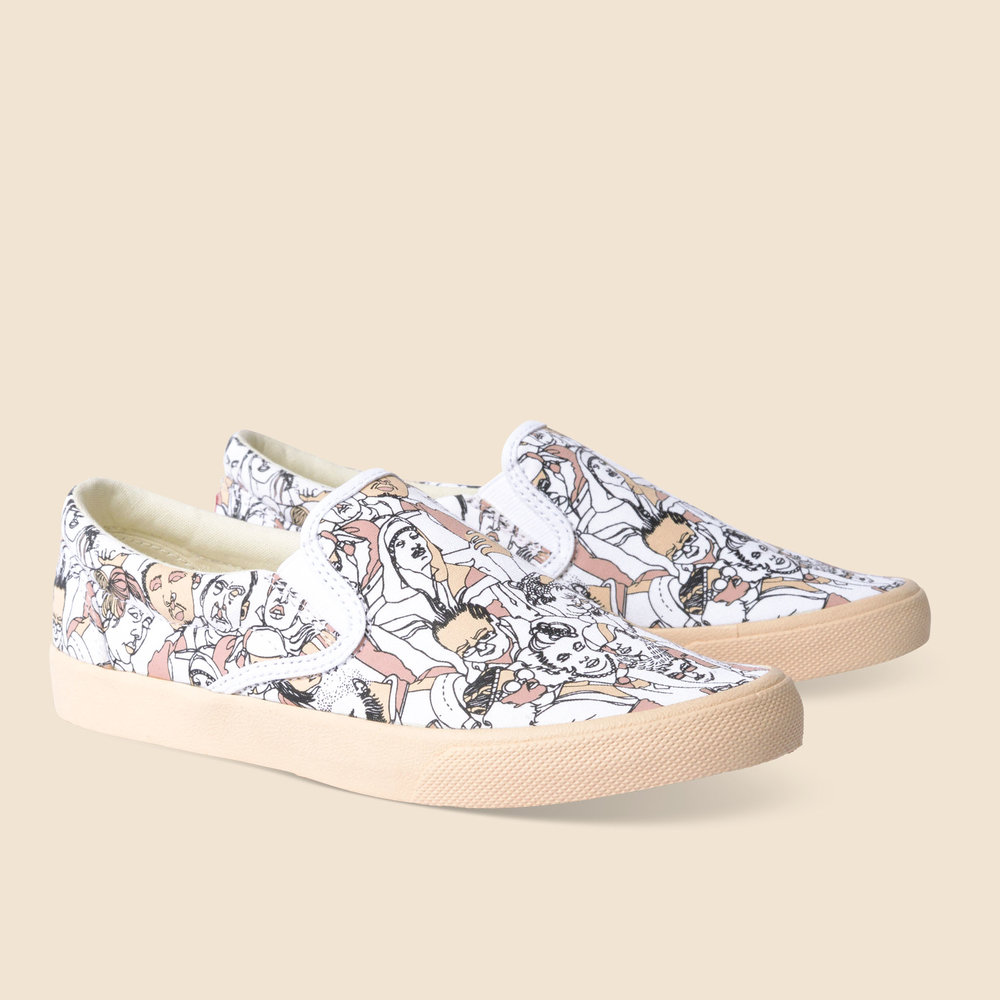 Bucketfeet Shoe Collaboration 2017 Spring Collection Neutral Peeps is my second shoe design for the brand Bucketfeet. I chose to use pastel colors to create a soft and airy feel.