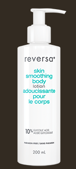 Reversa - Skin Smoothing Body Lotion - $36 available online or at Shoppers Drugs Mart