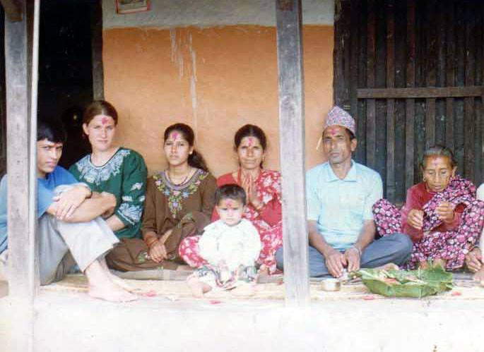 My village family in Lamjung, 1995