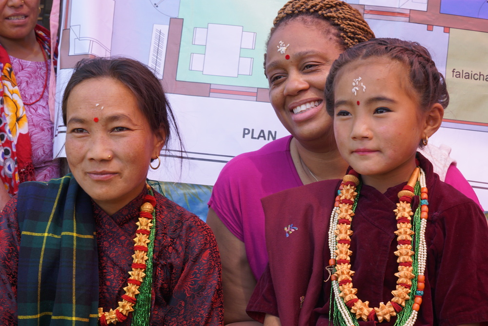 April 2016 trip participant Stacey with Rainaskot residents Putali and her mother.