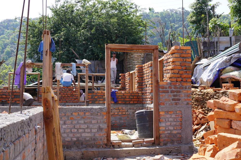 Homes under construction in 2016 in rainaskot/ photo courtesy of carol stimmel