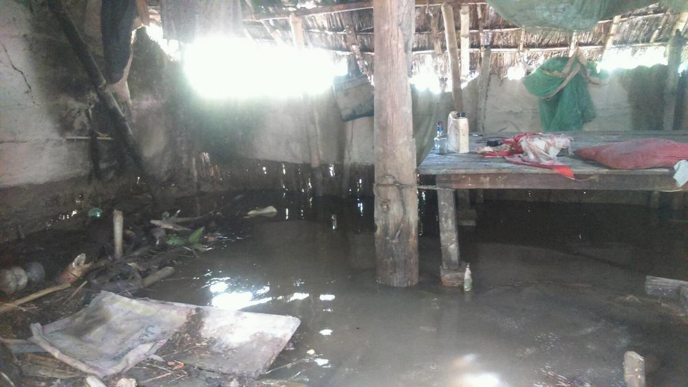 Flooded home in Rautahat