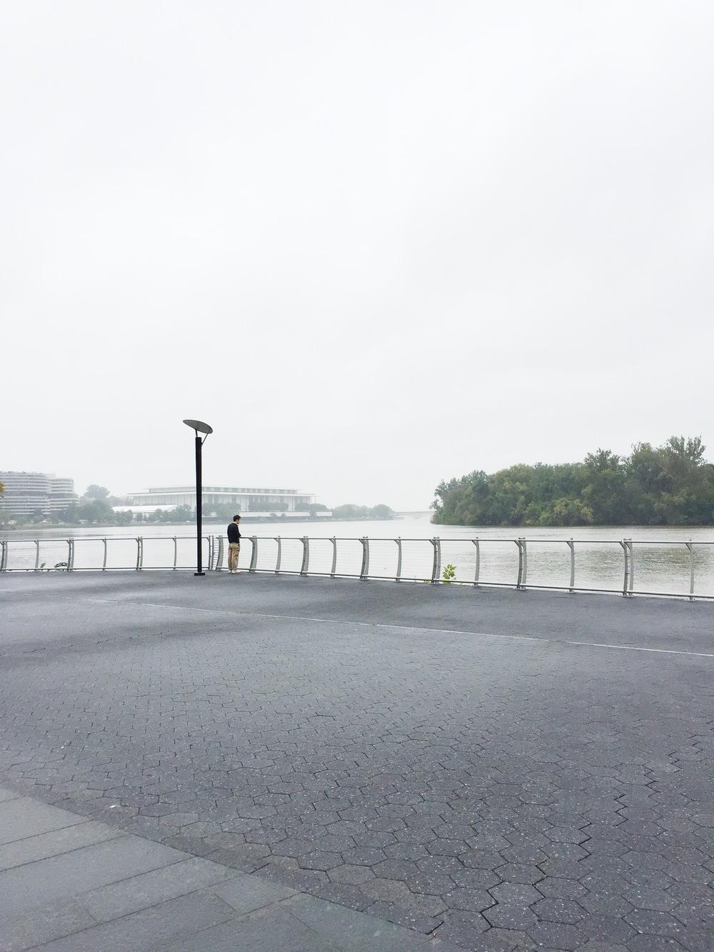 stranger at georgetown's waterfront