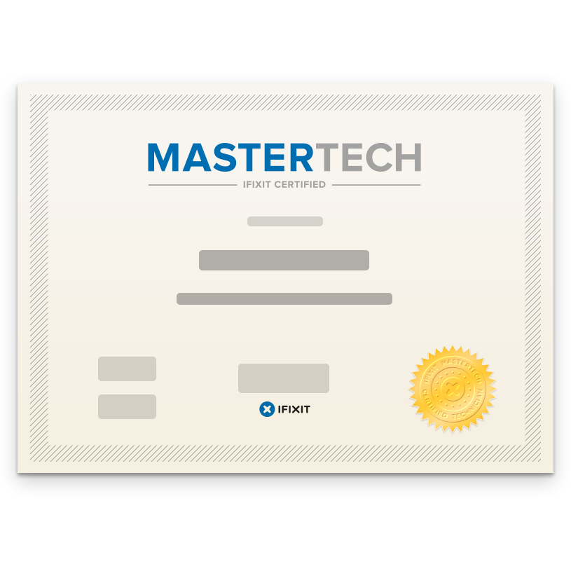 Ifixit Mastertech Certification