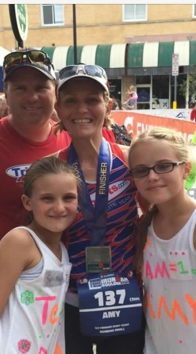 Coach Amy and her family after Ironman Boulder!