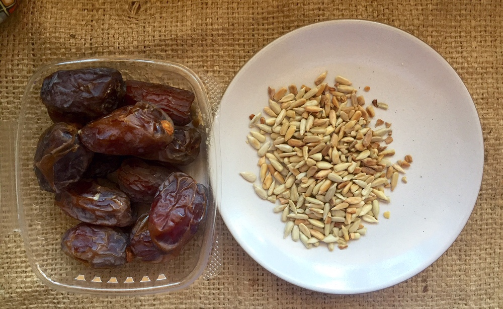 dates and sunflower seeds oatmeal
