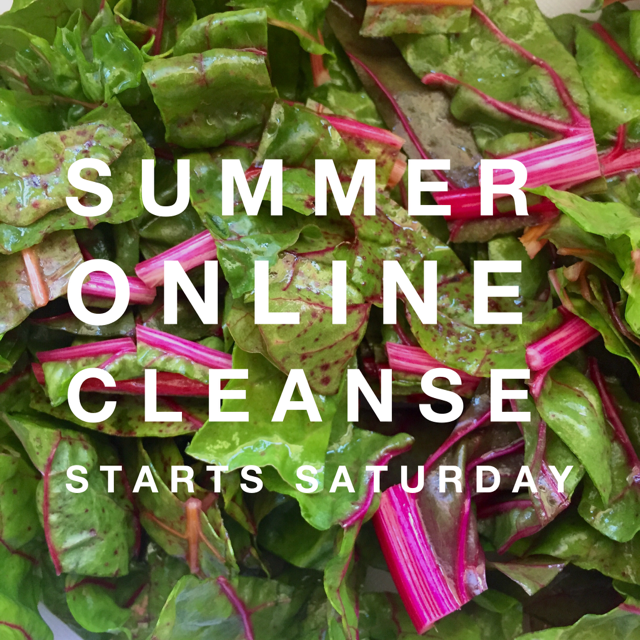 summer online cleanse swiss chard