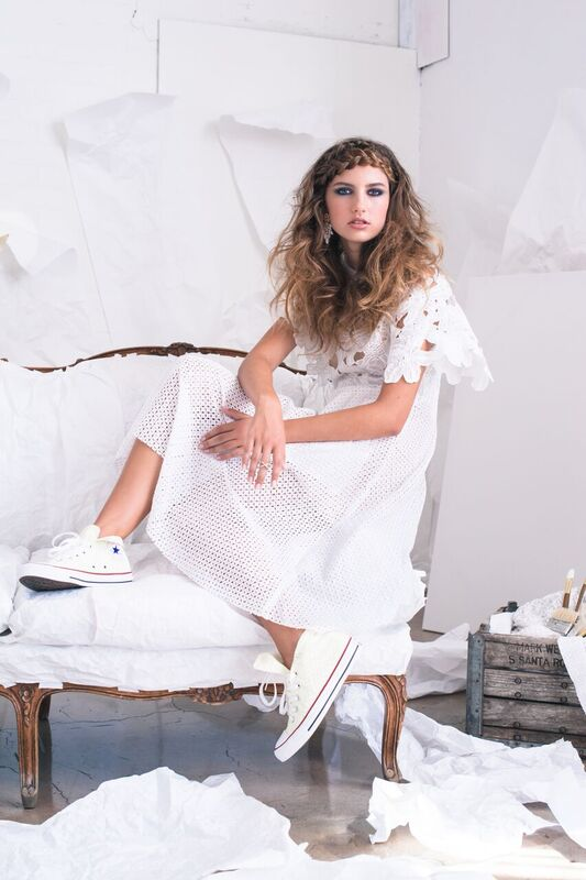 girls in white dresses rebecca buenik stylist