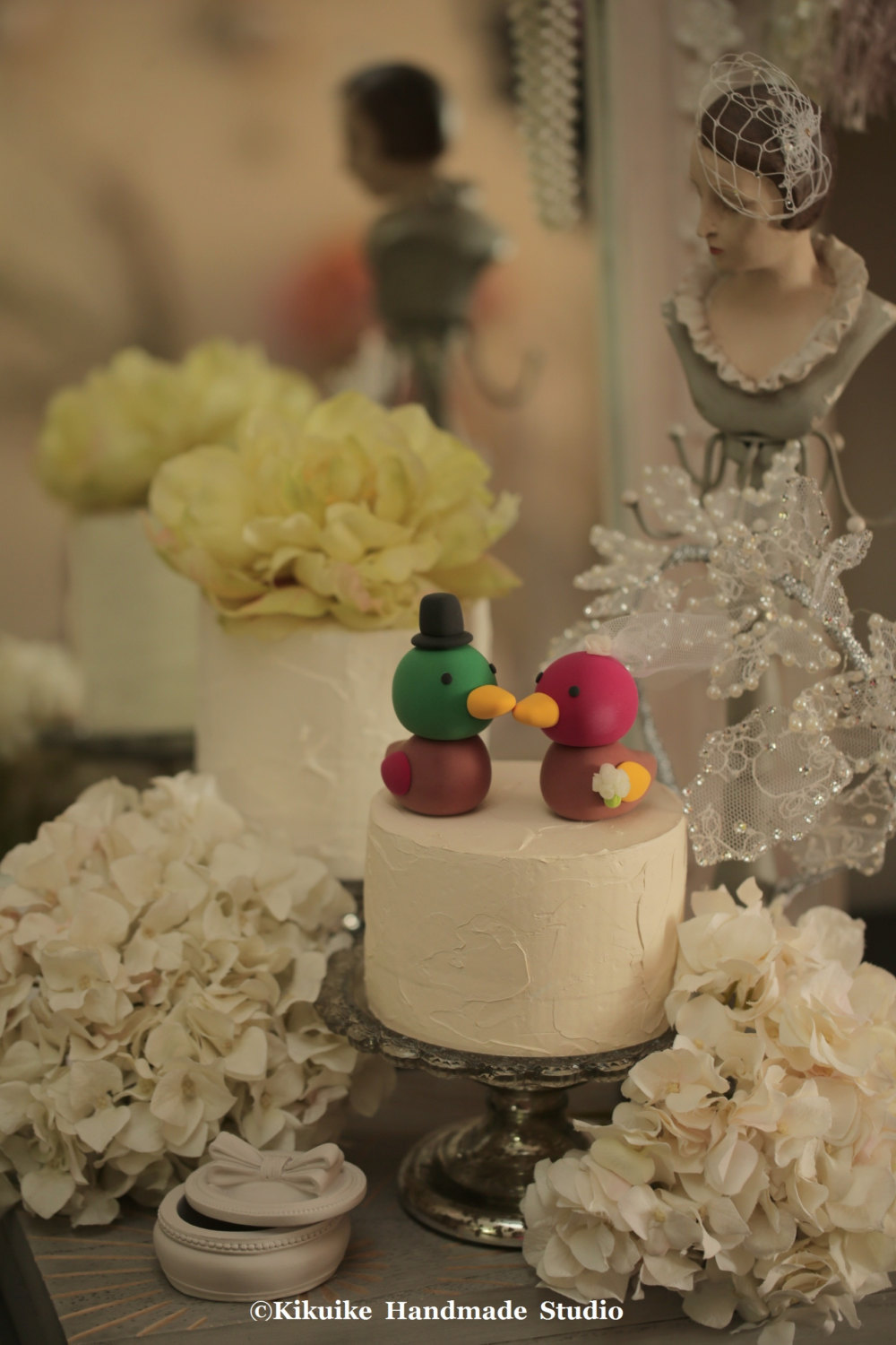 Korean Wedding Duck Cake Topper