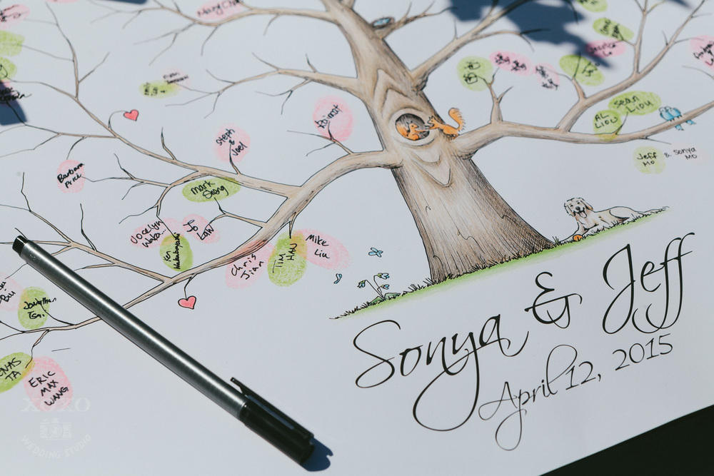 Photo by  XOXO Wedding Studio  | Fingerprint Guestbook by  Algo Art Studio