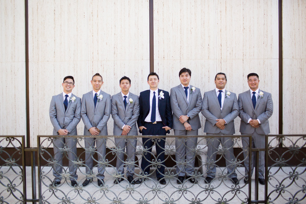 John and Groomsmen are Ready