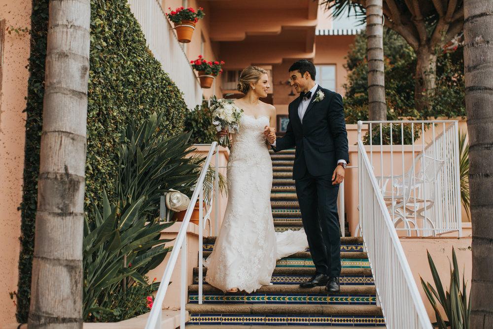Justin & Chrissy - St. Gabriel's Catholic Church - La Valencia Hotel - La Jolla, CA