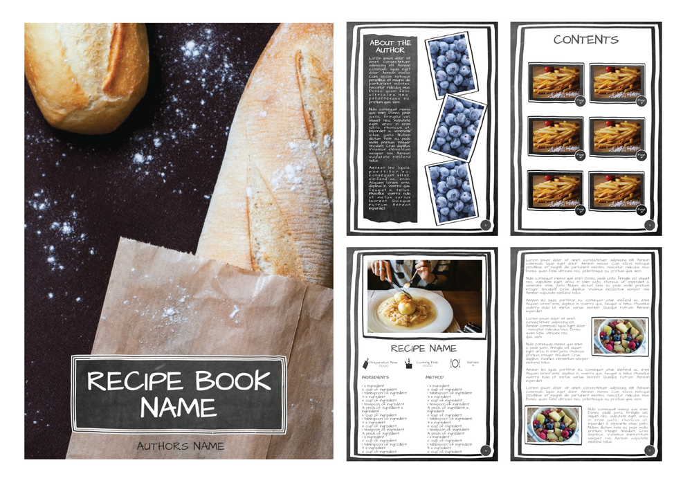 RUSTIC CHALKBOARD RECIPE EBOOK
