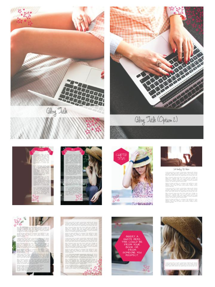 BLOG GIRL E-BOOK TEMPLATE {PINK}