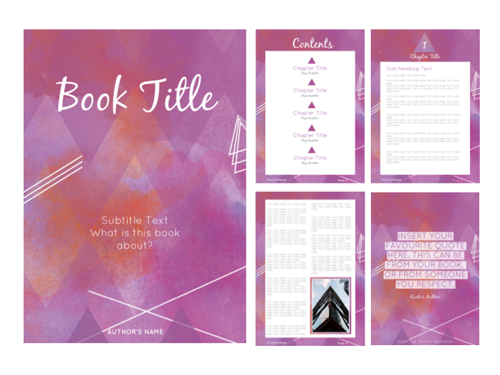 EARTH CHILD E-BOOK TEMPLATE {PINK}