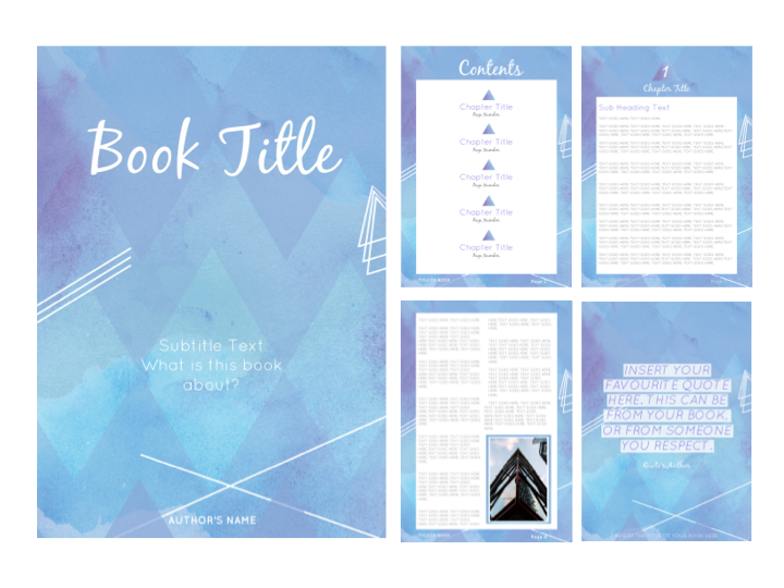 EARTH CHILD E-BOOK TEMPLATE {BLUE}