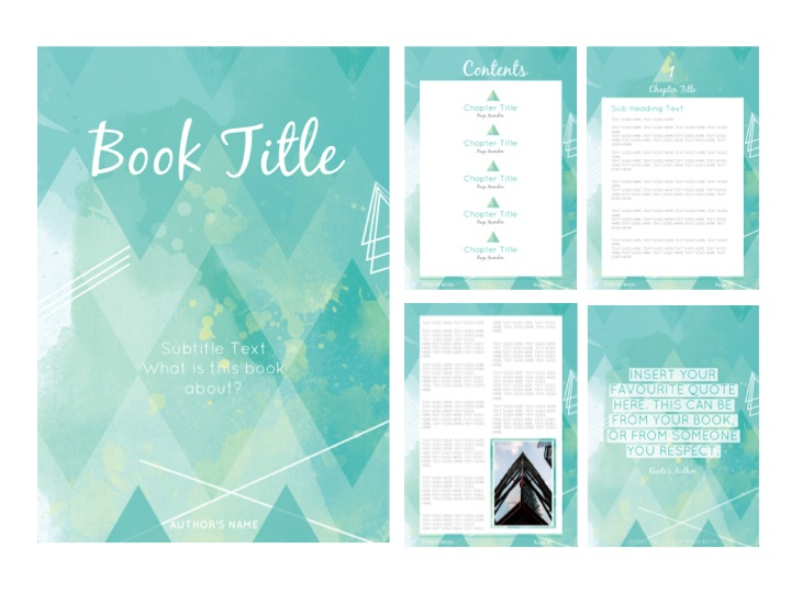 EARTH CHILD E-BOOK TEMPLATE {GREEN}