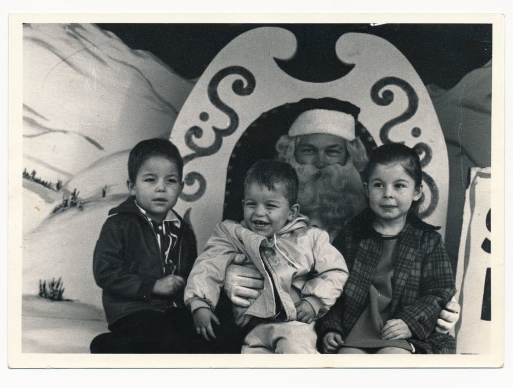 Hurtado Children with Santa