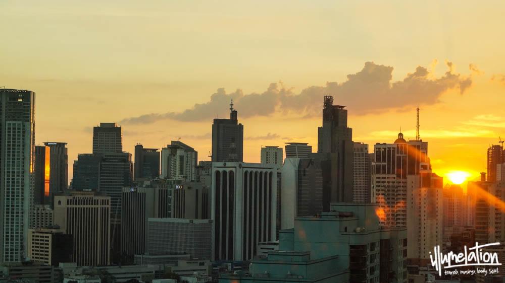 Sunset in Manila Philippines. illumelation 2015.