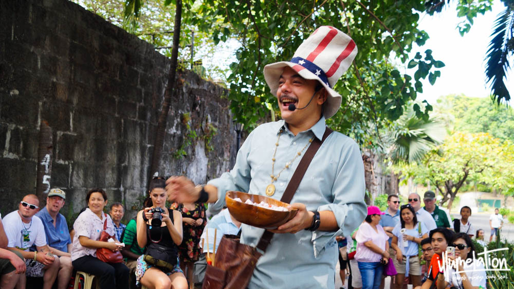 Carlos Celdran Intramuros Walking Tour. Manila Philippines 2015.