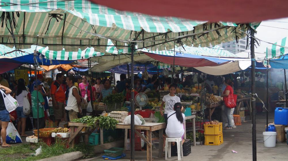 Filipino street food local market. Manila. 2015.
