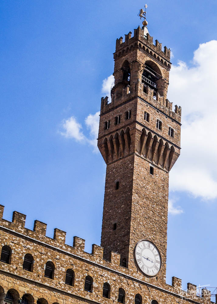 Palazzo Vecchio, Florence, Italy, scaffold, tower.