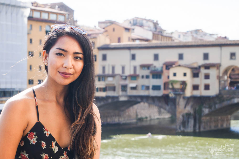 Mel Legarda Alcantara (illumelation.com) at Ponte Vecchio Bridge, Florence Tuscany Italy. 2015.