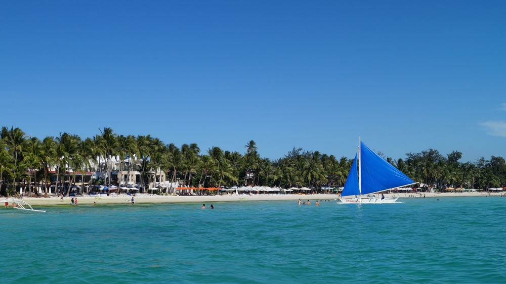 Boracay, Philippines - View of Shore from the Sea