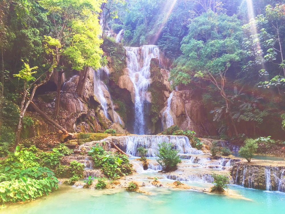 """Secret Spot"", Kuang-Si Waterfalls in Laos, Luang Prabang - illumelation.com"