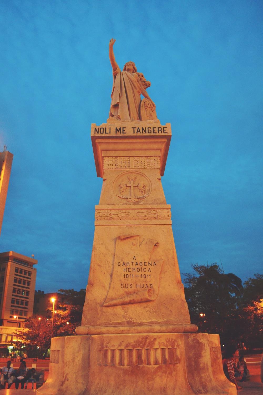 Contrast Statue Sky at Cartagena, Colombia - Katerina Jeng, Scratch the List - Illumelation.JPG