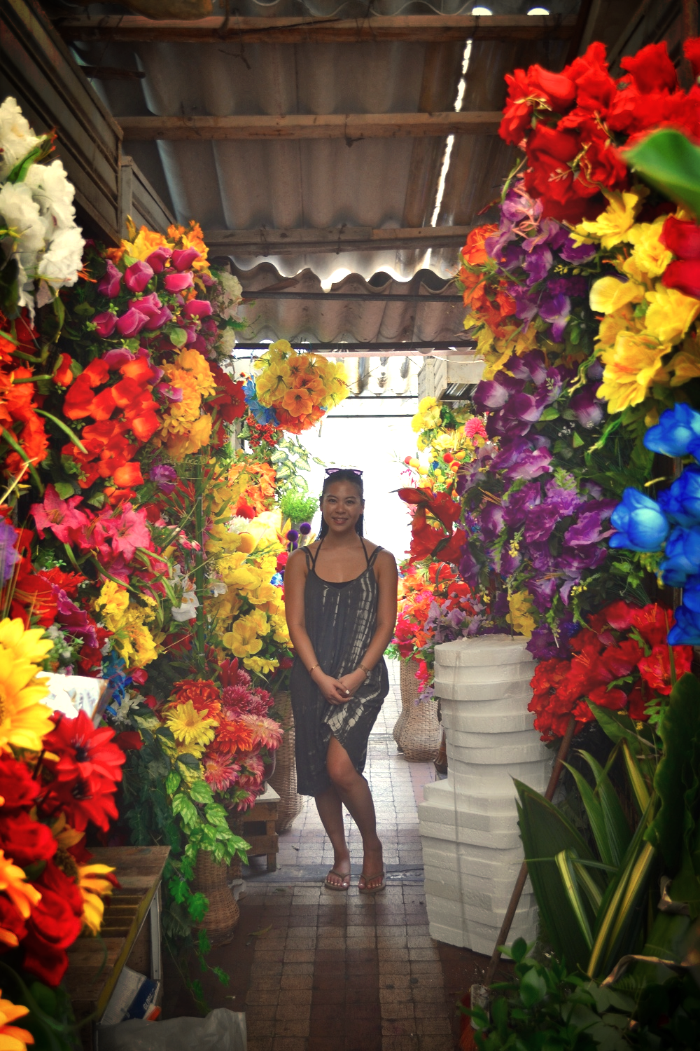 Colombia In Pictures: Colors Of Cartagena - Kat Jeng - Flowers at Market - Scratch the List